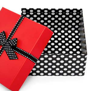 Christmas Valentines Gift Box with Lids for Presents 6 X 6X3