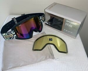 Giro Dylan Snow Goggles Kaleidoscope Black w Rose Mirror Lens *Free Yellow Lens