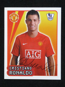 2007 2008 Barclays Premier League Merlin sticker #383 Cristiano Ronaldo Man Un