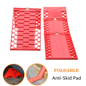 2×Car Folding Skid Plate Tire Traction Wheel Anti Skid Pad For Rainy Day Driving $31.97