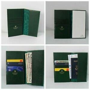 Rolex Card Wallet Note Padfolio Checkbook Passport Cash Travel Docs BRAND NEW $159.99