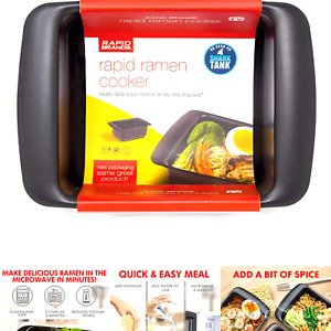 Rapid Ramen Cooker Microwave Ramen in 3 Minutes BPA Free and Dishwasher S...