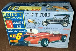 AMT Double Kit XR 6 Experimental Roadster 1927 Ford Model T Touring Model Kit $150.00