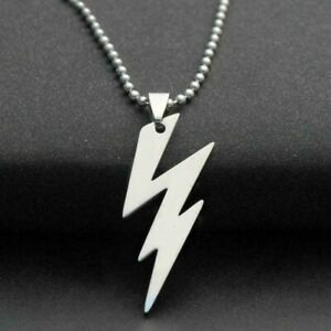 STAINLESS STEEL LIGHTNING BOLT NECKLACE 316L Metal Ball Chain $6.35