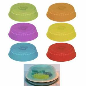 Set Of 2 Plastic Microwave Plate Cover Clear Steam Vent Splatter Lid 10 New