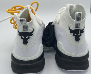 Under Armour Shoes Mens UA Project Rock 1 White Blood Sweat Respect Size 10.5 $65.00