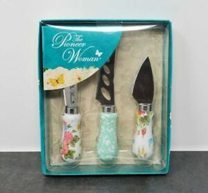The Pioneer Woman Cheese Knife Set Sweet Rose 3 Piece Set