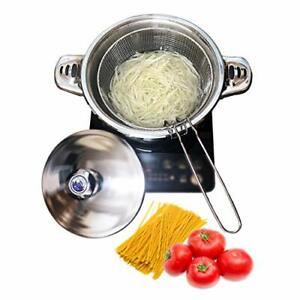 Stainless Steel Tri Ply Base Pasta CookerMultipots With Draining Steamer