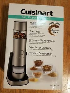 Cuisinart SG 3 Stainless Steel Rechargeable Salt Pepper and Spice Mill
