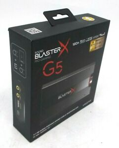 Creative Sound BlasterX G5 7.1 External Card $77.99