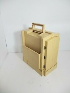 Sewing Box Vintage 1983 World Wide Media Folding Storage Caddy Spool Thread $29.99