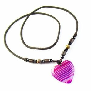 Beautiful Purple Onyx Druzy Geode Agate Heart Necklace 26  SK60339 $10.13