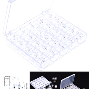 Mudder Plastic Sewing Machine Bobbins with Storage Case for Brother Janome Si... $8.32