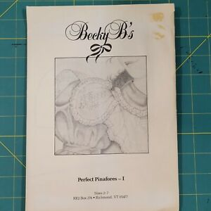 Becky B#x27;s Perfect Pinafores I Heirloom Sewing Girls Dress Pattern Size 2 7 $10.00
