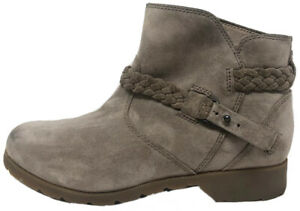 Teva Delavina Desert Taupe Brown Suede Leather Ankle Boots Booties Women's 7.5 $32.95