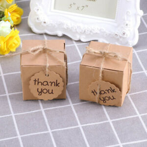 Candy Boxes Creative Square Kraft Paper Packaging Bags for Wedding $6.07