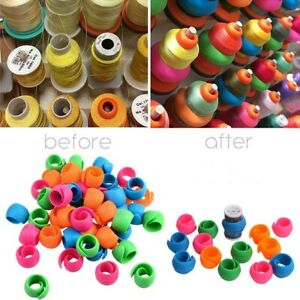 50Pc Silicone Thread Spool Tool Sewing Holder Hugger For DIY Bobbin Clip Clamp $8.99