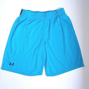 Under Armour Shorts Large Blue Mens Loose Athletic Workout Basketball C $18.99
