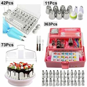 Cake Decorating Tools Kit Set Russian Piping Tips Pastry Icing Nozzle Bags Stand