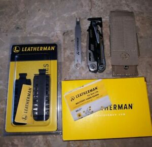 Leatherman MUT Multi Tool 850012 w Brown Sheath Wrench amp; Bit Kit 931014