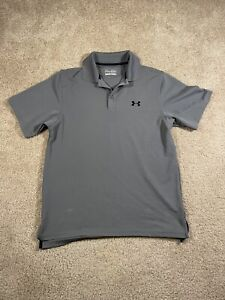 UNDER ARMOUR GOLF POLO SHIRT MENS S SMALL LOOSE GRAY STRETCH HEAT GEAR $19.99