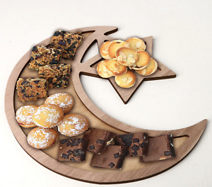Wooden Moon Star Food Party Celebration Decoration Tray