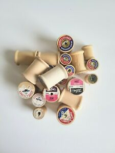 Lot of 21 Vintage Empty Sewing Spools Sewing Craft Supplies Antique $9.99