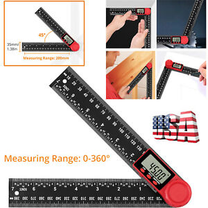 Electronic LCD Digital Angle Finder 8quot; Protractor Gauge Ruler With Battery US $13.85