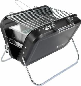 Valiant Portable Picnic BBQ Folding Camping Grill Suitcase Charcoal Barbecue