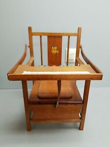 Vtg Wooden Child Toddler Toilet Potty Training Chair Seat with Lid Tray $65.50