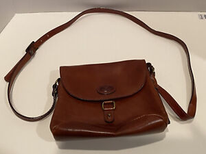 Vintage Purse Robe Di Firenze Brown Leather Made In Italy $25.00