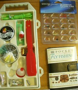 SOUTH BEND 20 FAMOUS PATTERN FLIES Fishing Book Fly Fishing Supplies LOT