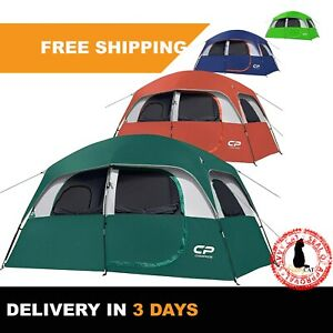 6 Person Camping Tents Waterproof amp; Windproof for Family Tent Portable w Bag L
