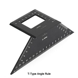 Multifunctional Square 45 90 Degree Gauge Angle Ruler Measuring Tool Charm SP $10.69