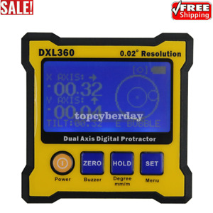 DXL360 2 Axis Digital Angle Protractor Magnetic Inclinometer 0.02° Resolution $68.60