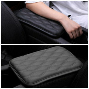 Car Dust Proof Pu Leather Armrest Pad Cover Auto Center Console Cushion Mat Gray $10.59