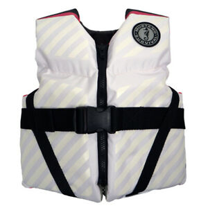Mustang Lil#x27; Legends 70 Youth Vest 50 90lbs Pink White