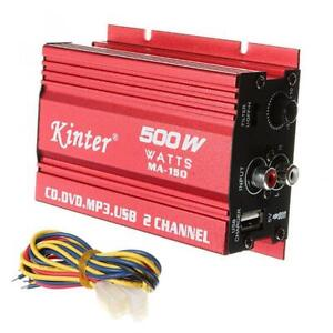 2 Channel RMS 500 Watt Amp Car Motor Home Audio Stereo Amplifier Amp Subwoofer $15.95