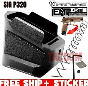 Strike Industries EMP Extended Grip Pad base plate for SIG P320 magazine 9mm