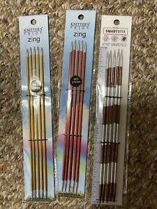 Zing and Smartstix double pointed knitting needles $25.00