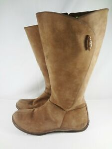 Timberland Distressed Leather Zip Side Boots Style 68379 Women Size 8.5 M