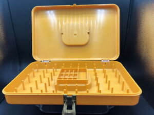 Vintage Wilson Mfg Co. Wil Hold Sewing Thread Box Gold Plastic 13quot;x 8quot;x 2.5quot; $9.95