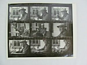 Old Man Hat Story Telling Black White Photograph Contact Sheet BW 8 x 10 $9.99