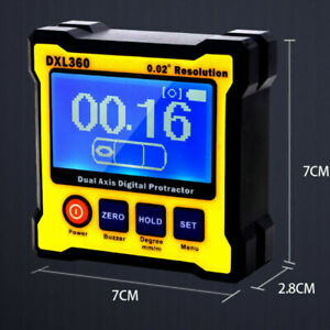 DXL360 Dual Axis Digital Angle Protractor Magnetic Mini Inclinometer AngleFinder $73.99