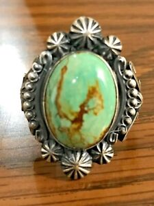Native American Navajo Southwestern Royston Turquoise 925 Sterling Silver Ring $125.00
