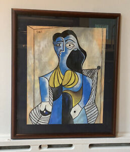 Picasso signed Gouache On Paper. $14999.00