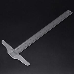 30cm 12quot; Plastic T Square Metric Ruler cm inch Double Side Scale Measuring Tool $4.05