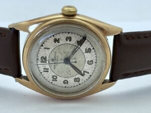 1940s Rolex Oyster Perpetual 14K Solid Gold 4392 Chronometer Bubble Back RUNS $2920.00