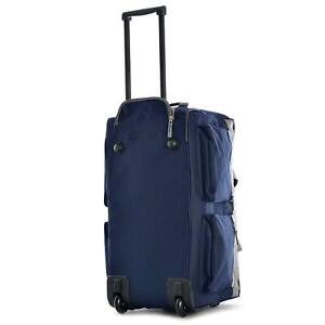 Olympia 8 Pocket Rolling Duffle Bags Navy