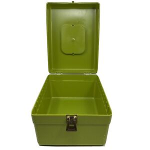 🔴 Vintage Wilson Wil Hold Green Plastic Sewing Basket Box Made in USA $24.74